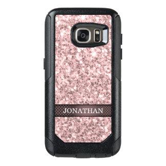 Trendy Brandy Rose Glitter Pattern OtterBox Samsung Galaxy S7 Case