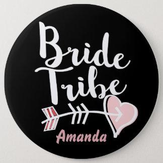 Trendy bride tribe 6 cm round badge