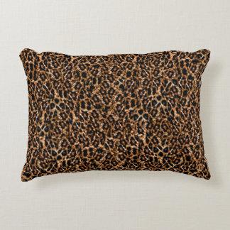 Trendy Brown Exotic Fur Pattern Leopard Print Decorative Cushion