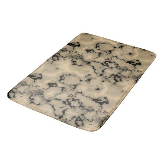 Trendy  brown marble stone texture design bath mat