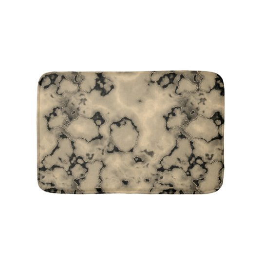 Trendy  brown marble stone texture design bath mat