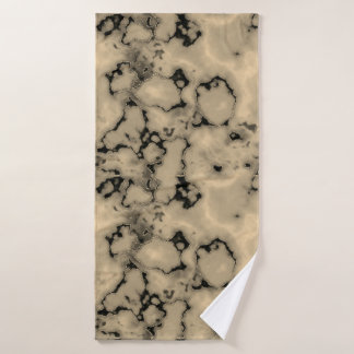 Trendy  brown marble stone texture design bath towel
