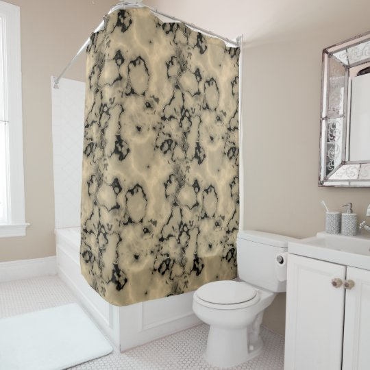 Trendy  brown marble stone texture design shower curtain