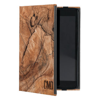 Trendy Brown Wooden Seamless Pattern Case For iPad Mini