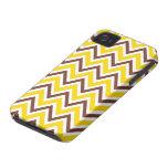 Trendy brown yellow zigzag chevron pattern case