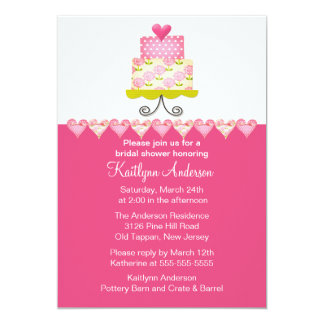 Trendy Cake Bridal Shower Invitation