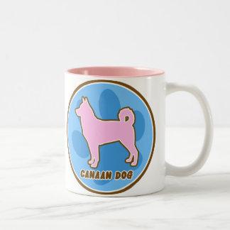 Trendy Canaan Dog Two-Tone Coffee Mug
