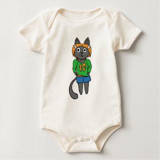 Trendy Cat Cute Cartoon Baby Bodysuit