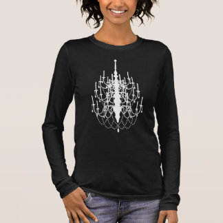 Trendy Chandelier Silhouette, Ladies Tee