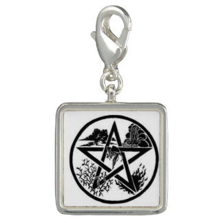 Trendy Charm Earth, Wind, Water and Fire Pentagram