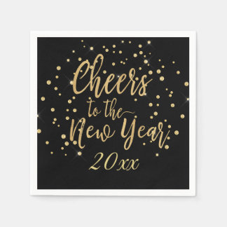 Trendy Cheers to the New Year Paper Serviettes