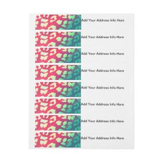 Trendy Cheetah Hot Pink Teal Gradient Pattern Wraparound Address Label