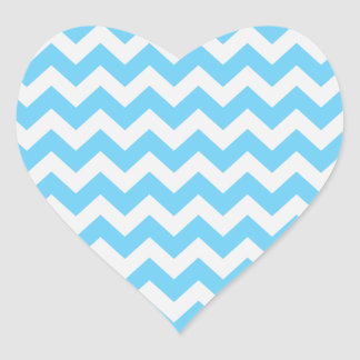 Trendy Chevron Heart Stickers