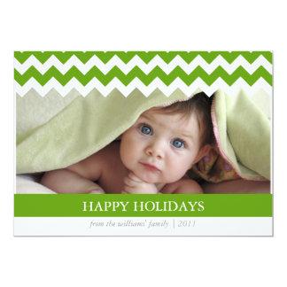 Trendy Chevron Holiday Card 13 Cm X 18 Cm Invitation Card