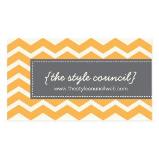 Trendy Chevron Pattern Business Card
