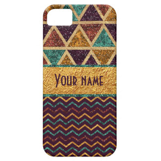 Trendy Chevrons Triangles Faux Gold Foil Glitter iPhone 5 Cover
