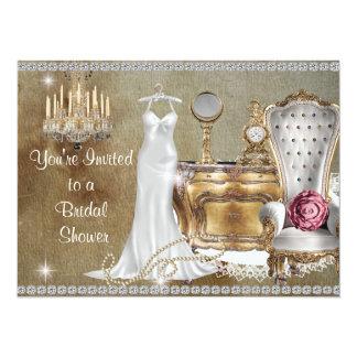 Trendy Chic BRIDAL SHOWER INVITATION FAUX