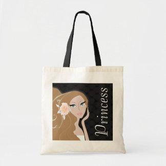 trendy chic girly fashionista bridal shower budget tote bag