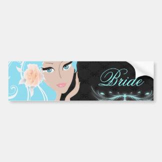 trendy chic girly fashionista bridal shower bumper sticker
