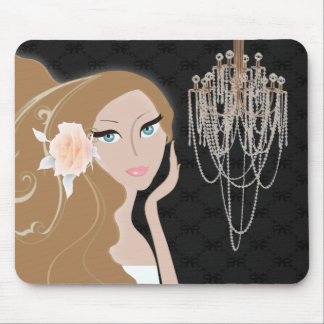 trendy chic girly fashionista bridal shower mouse pad