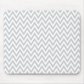Trendy chic light gray chevron zigzag pattern mouse pad