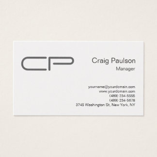 Trendy Chic Monogram Modern Elegant Professional Business Card