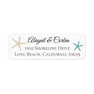Trendy Chic Starfish Return Address Return Address Label