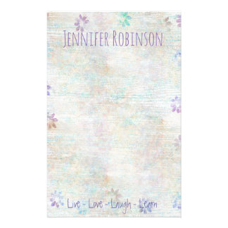 Trendy Chic Watercolor Grunge Stationery