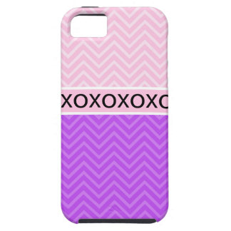 Trendy Chic XOXO Chevron Pink iPhone 5 Case