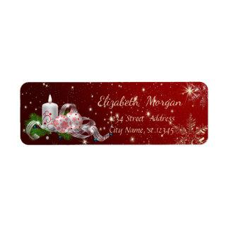 Trendy Christmas Balls,Christmas Candle Return Address Label
