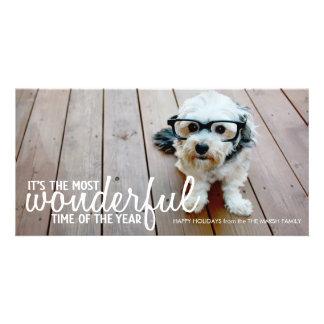 Trendy Christmas Photo Greeting Customised Photo Card