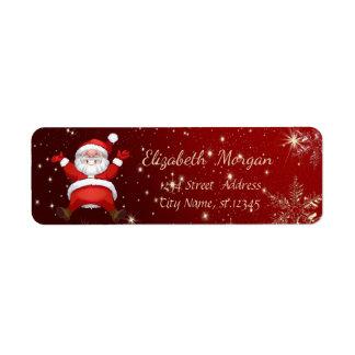 Trendy Christmas Snowflakes,Santa Claus Return Address Label