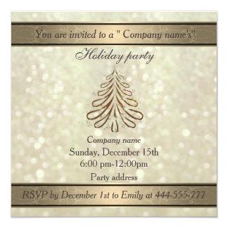 Trendy Christmas tree bokeh company holiday party 13 Cm X 13 Cm Square Invitation Card