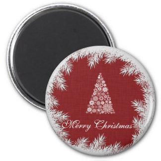 Trendy Christmas tree winter holiday 6 Cm Round Magnet
