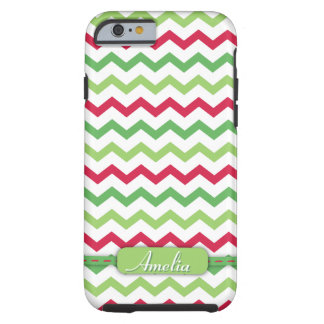 Trendy Colorful Christmas Chevron Pattern Tough iPhone 6 Case