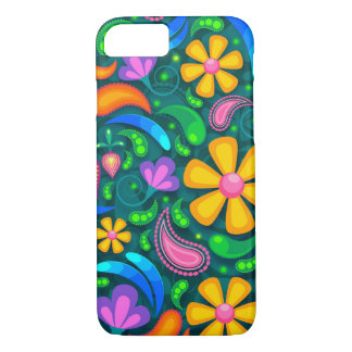 Trendy Colorful Flowers Floral Pattern iPhone 7 Case