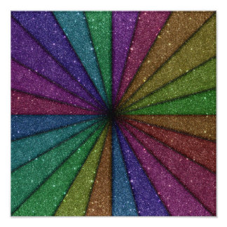Trendy Colorful Glitter Explosion Photographic Print