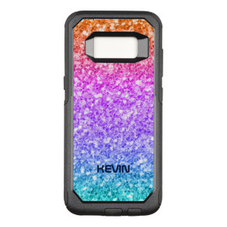 Trendy Colorful Glitter Texture Modern Pattern OtterBox Commuter Samsung Galaxy S8 Case