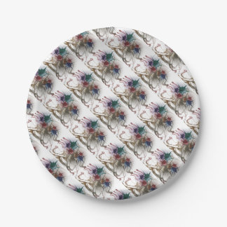 Trendy Colorful Ink Splash Paper Plate