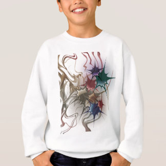 Trendy Colorful Ink Splash Sweatshirt