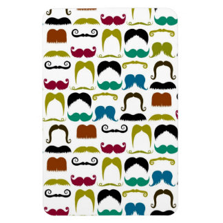Trendy Colorful Mustache Pattern Rectangular Magnets