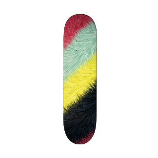 Trendy colorful pattern skate board