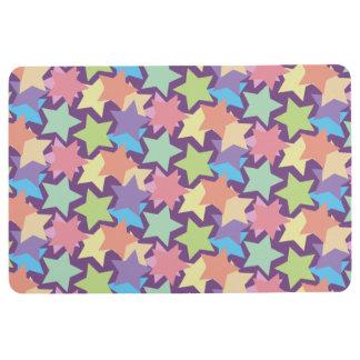 Trendy Colorful Stars Floor Mat