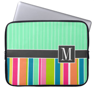 Trendy Colorful Stripes Laptop Sleeve