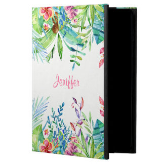 Trendy Colorful Tropical Flowers iPad Air Cover