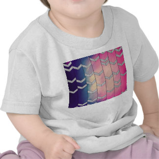 Trendy Colorful Watercolor Arrow Zig Zag Glitter Tee Shirt