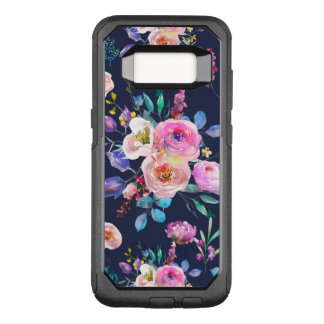 Trendy Colorful Watercolors Flowers Pattern OtterBox Commuter Samsung Galaxy S8 Case