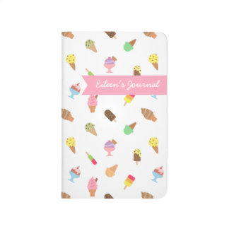 Trendy Colourful Ice Cream Pattern For Her Journal