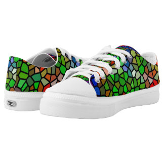 Trendy Colourful stained glass Low Tops