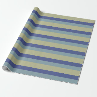 Trendy Colours Blue Khaki Stripes Pattern